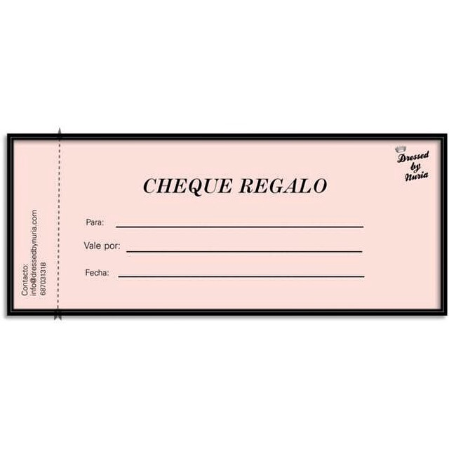Imprimir un cheque regalo